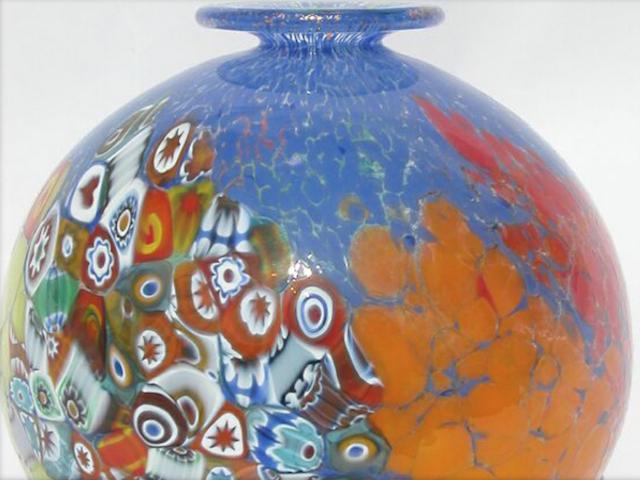 Millefiori Vase Lauren Grey Corporate Art